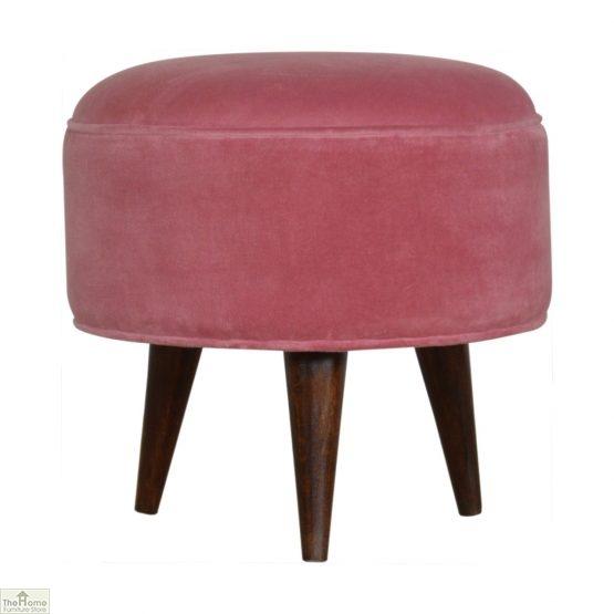 Nordic Style Velvet Upholstered Stool_16