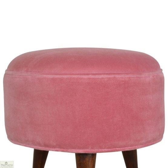 Nordic Style Velvet Upholstered Stool_17