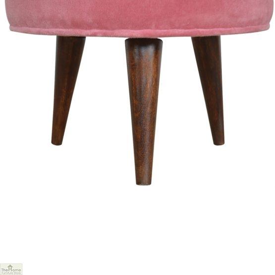 Nordic Style Velvet Upholstered Stool_18