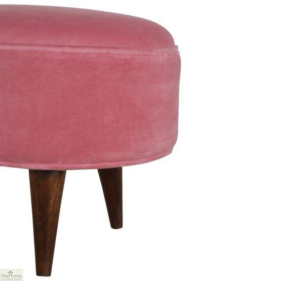 Nordic Style Velvet Upholstered Stool_19