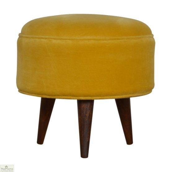 Nordic Style Velvet Upholstered Stool_22