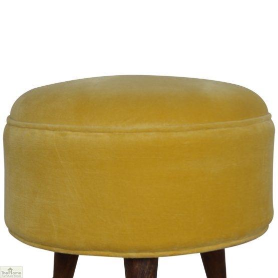 Nordic Style Velvet Upholstered Stool_24