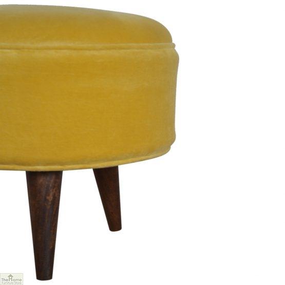 Nordic Style Velvet Upholstered Stool_25