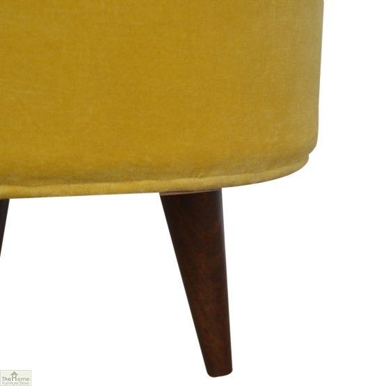 Nordic Style Velvet Upholstered Stool_26