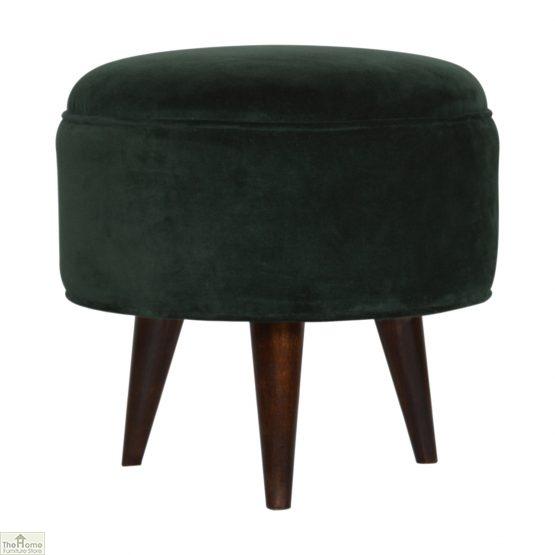 Nordic Style Velvet Upholstered Stool_27
