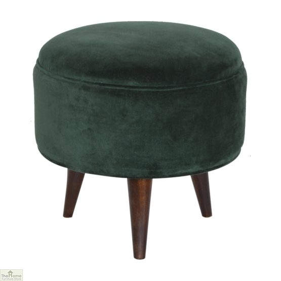 Nordic Style Velvet Upholstered Stool_28