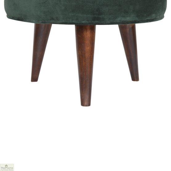 Nordic Style Velvet Upholstered Stool_29