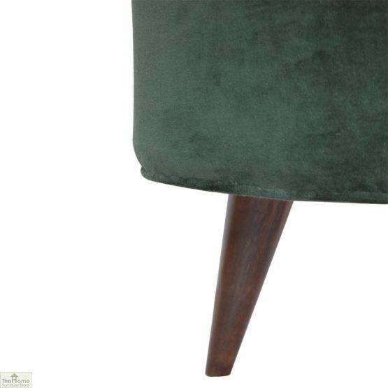 Nordic Style Velvet Upholstered Stool_30