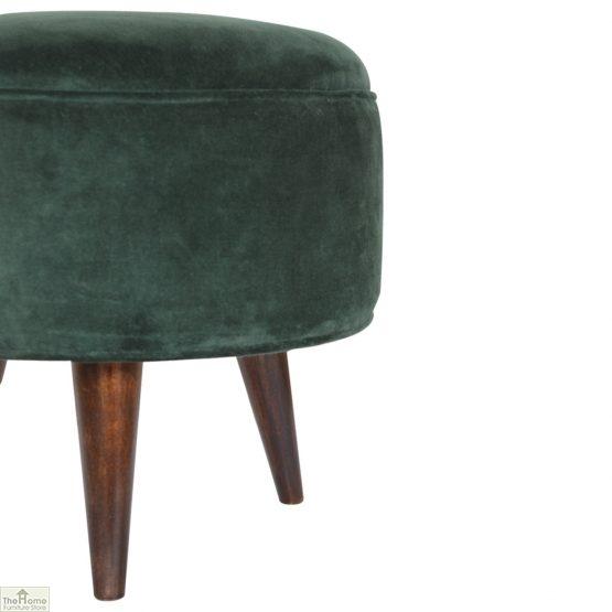 Nordic Style Velvet Upholstered Stool_31