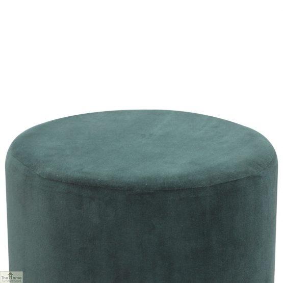 Emerald Green Velvet Footstool_3