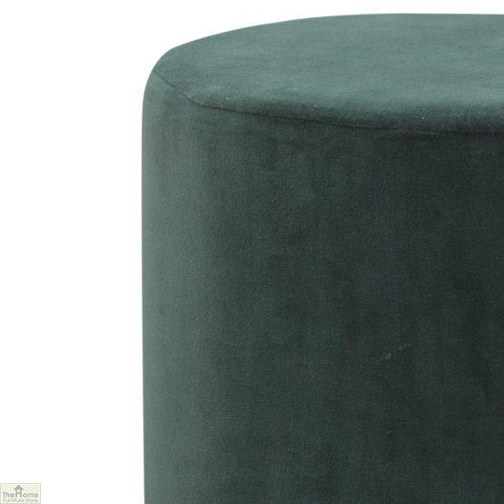 Emerald Green Velvet Footstool_4