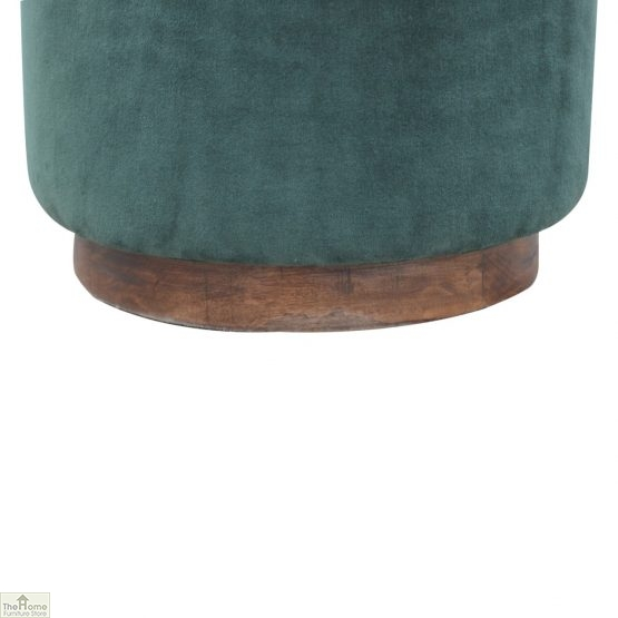 Emerald Green Velvet Footstool_5