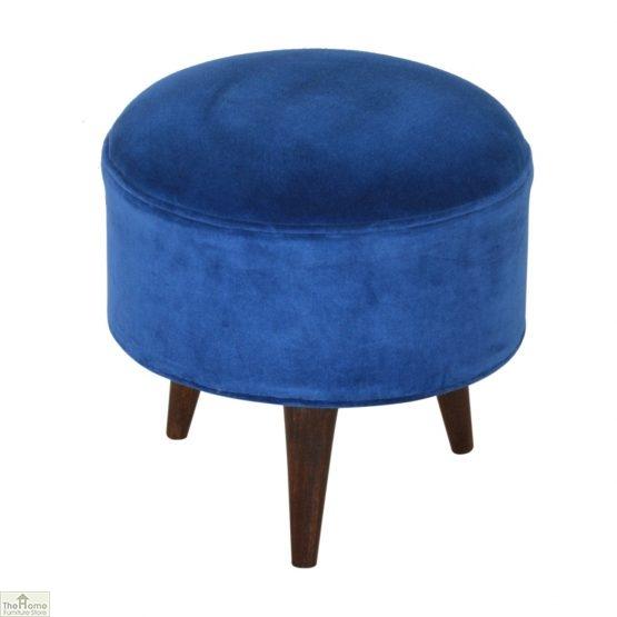 Nordic Style Velvet Upholstered Stool_32
