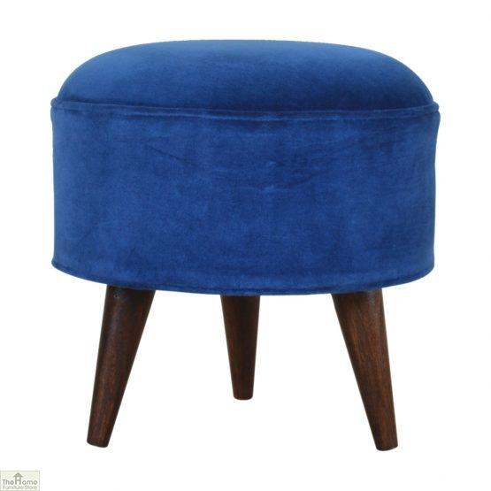 Nordic Style Velvet Upholstered Stool_37