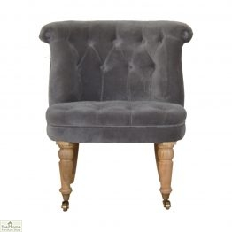 Velvet Petite Accent Chair