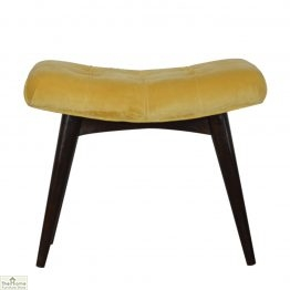 Curved Velvet Stool Bench