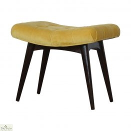 Curved Velvet Stool Bench_1