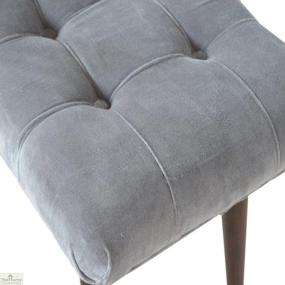 Curved Velvet Stool Bench_50
