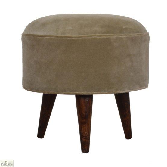 Nordic Style Velvet Upholstered Stool_38