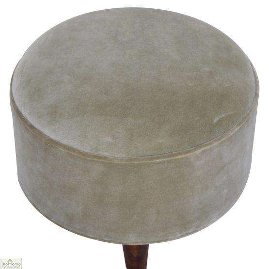 Nordic Style Velvet Upholstered Stool_39
