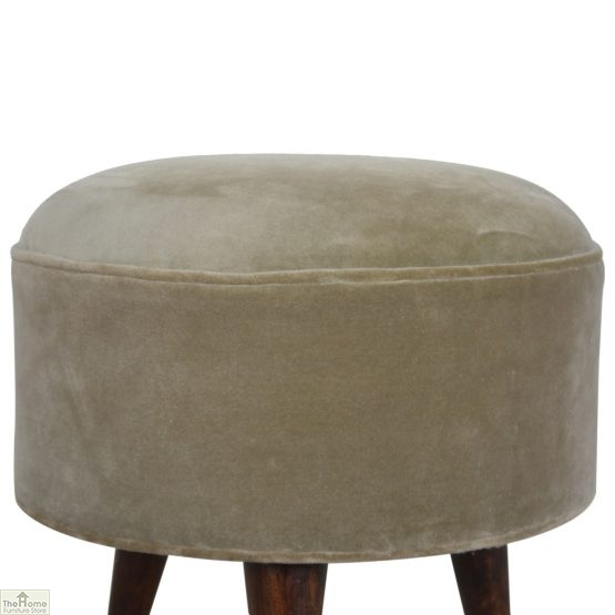 Nordic Style Velvet Upholstered Stool_41
