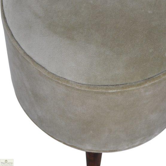 Nordic Style Velvet Upholstered Stool_42