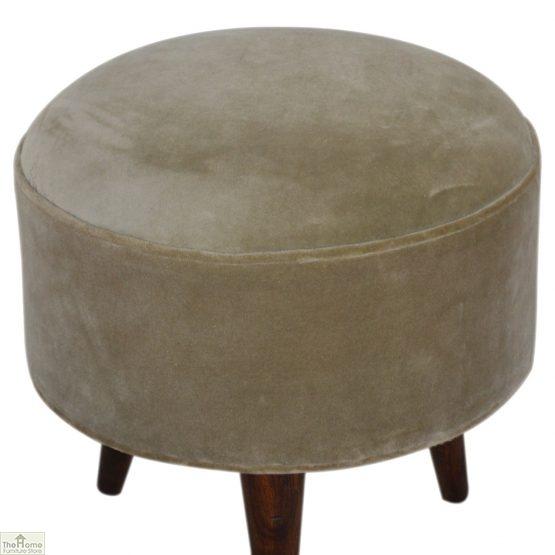 Nordic Style Velvet Upholstered Stool_44