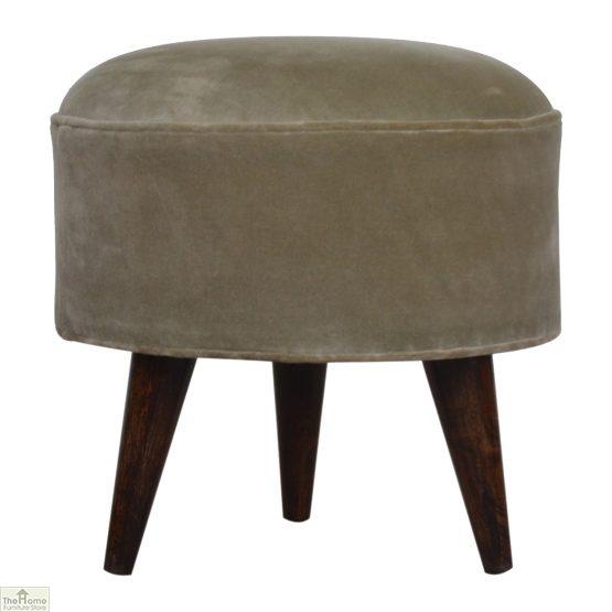 Nordic Style Velvet Upholstered Stool_45