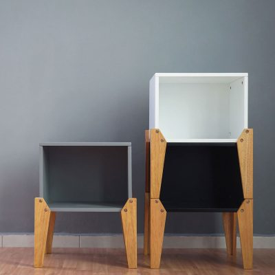 Black Stacking Box Bedside Table_2