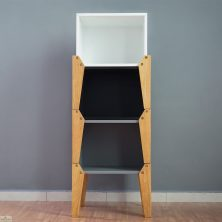 Black Stacking Box Bedside Table