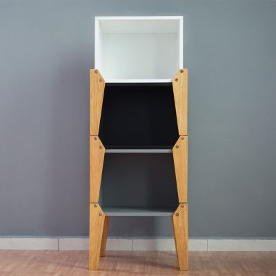 Black Stacking Box Bedside Table_1