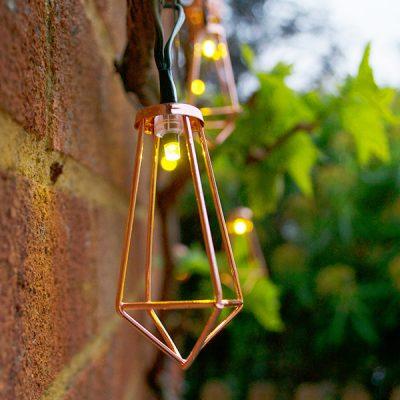 Solar Copper Lantern String Lights_1