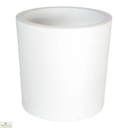 White Round Garden Flower Pot