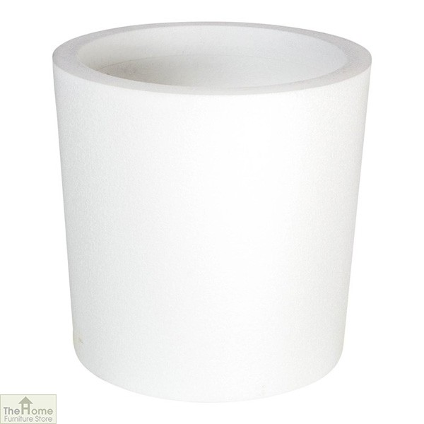 White Round Garden Flower Pot