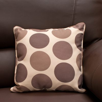 Cream Brown Polka Dot Scatter Cushion_1