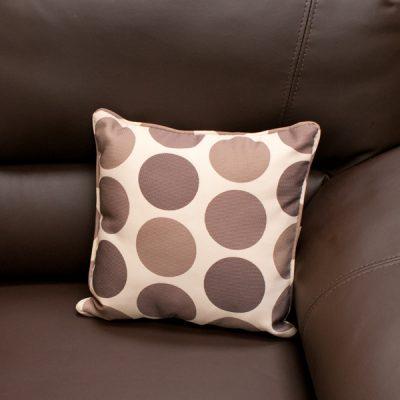 Cream Brown Polka Dot Scatter Cushion_2