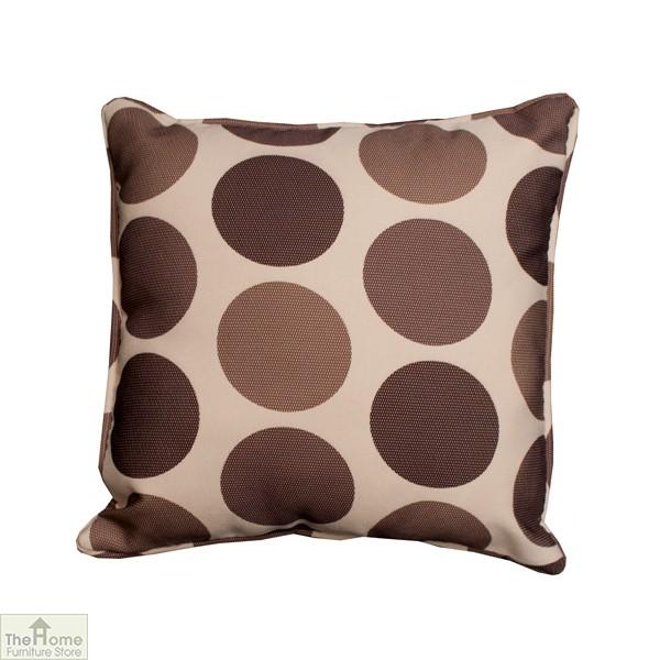 Cream Brown Polka Dot Scatter Cushion