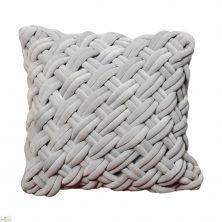 Handknotted Grey Velvet Cushion Cover