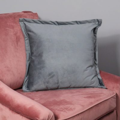 Textured Grey Velvet Cushion Cover_1