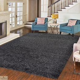 Anthracite Plain Shaggy Rug_1