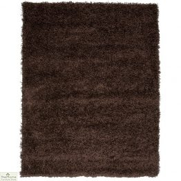 Chocolate Brown Plain Shaggy Rug