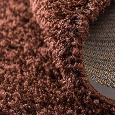 Chocolate Brown Plain Shaggy Rug_9