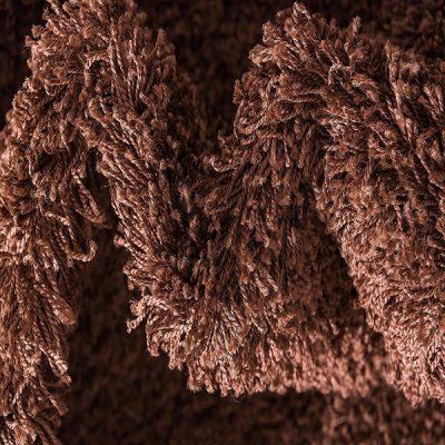 Chocolate Brown Plain Shaggy Rug_10