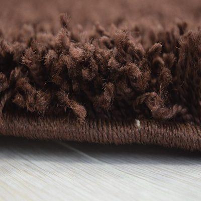 Chocolate Brown Plain Shaggy Rug_11