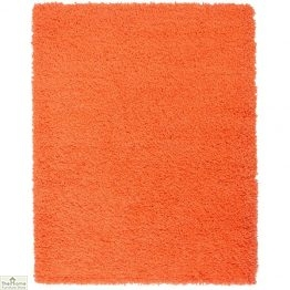 Orange Plain Shaggy Rug
