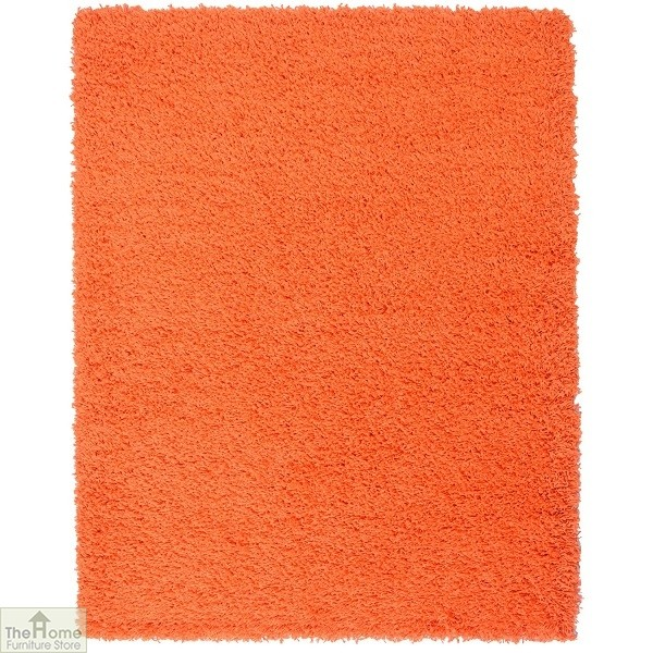 Orange Plain Shaggy Rug