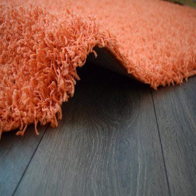 Orange Plain Shaggy Rug_7