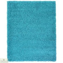 Teal Plain Shaggy Rug – 120 x 170cm (4 'x 5'8″)