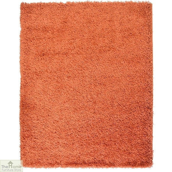 Terracotta Plain Shaggy Rug
