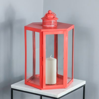 Coral Candle Holder Glass Lantern_1